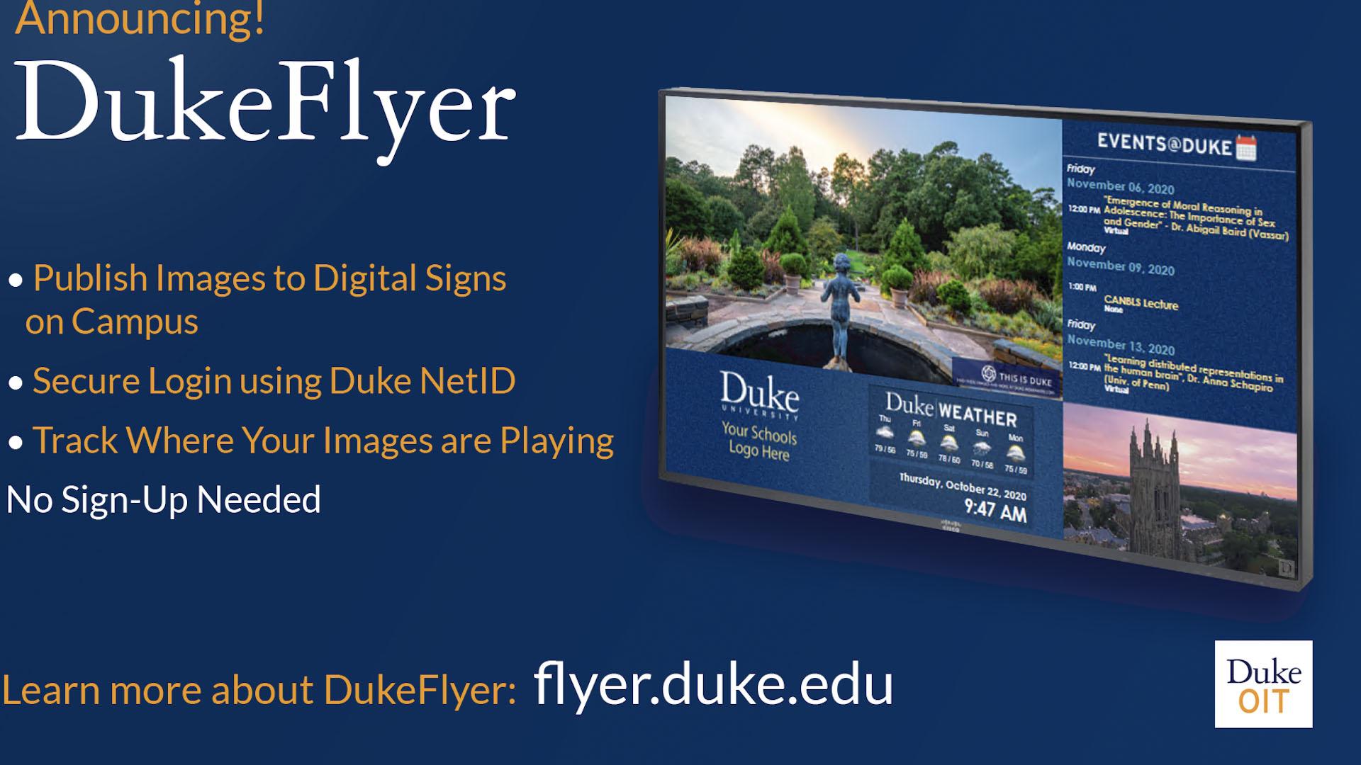 Announcing Duke Flyer